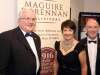 Pictured at the opening night  of Claremorris Drama Festival with (Juno and the Paycock) presented by Clann Machua Drama Group, Kiltimagh were Peter McCallig, Chairman Claremorris Drama Festival and Kay and Michael Brennan, of Maguire and Brennan Solicitors, sponsors of opening night.  Photo: © Michael Donnelly